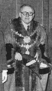 James T Davies, Mayor of Cardigan, 1955 (Glen Johnson Collection)