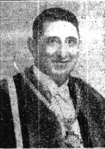 Lieutenant-Colonel E. Harewood-Williams, Mayor of Cardigan, 1951 (Cardigan & Tivy-Side Advertiser)