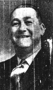 Fred Lewis, Mayor of Cardigan, 1952 (Cardigan & Tivy-Side Advertiser)