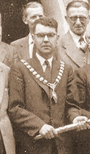 Cyril Lloyd, Mayor of Cardigan, 1958 (Glen Johnson Collection)