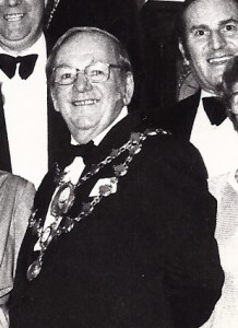 Ivor Radley, Mayor of Cardigan, 1980 (Glen Johnson Collection)