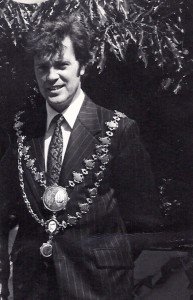 Hugh Morgan, Mayor of Cardigan, 1977 (Glen Johnson Collection)
