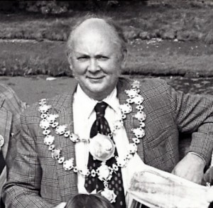 Aneurin Jones, Mayor of Cardigan, 1978 (Glen Johnson Collection)