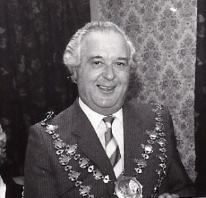 H Gwynfi Jenkins, Mayor of Cardigan, 1981 (Glen Johnson Collection)