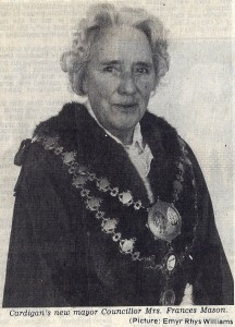 Mrs. Frances Mason, Mayor of Cardigan, 1982 (Cardigan & Tivy-Side Advertiser)