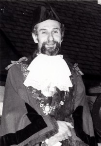 J B Evans, Mayor of Cardigan, 1983 (Glen Johnson Collection)