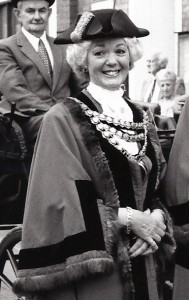 Sandra Williams, Mayor of Cardigan, 1993 (Glen Johnson Collection)