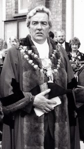 Neville Williams, Mayor of Cardigan, in 1993 (Glen Johnson Collection)