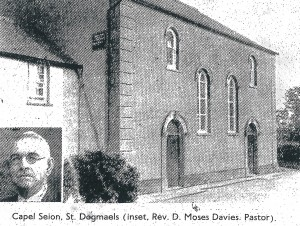 Capel Seion & Rev. D Moses Davies, 1936 (Cardigan & Tivy-Side Advertiser)