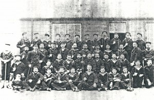 Royal Naval Reserve at St. Dogmaels Battery Drill Hall, circa 1900 (Glen Johnson Collection)