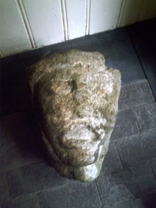 Carved stone head from Hendre, May 2011 (c) Glen K Johnson