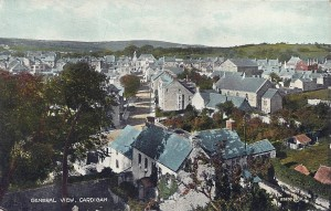 Churchyard House and Priory Street from the church tower ca. 1910. J. Clougher & Son postcard (Glen Johnson Collection)