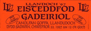 Car Sticker for the 1997 Eisteddfod