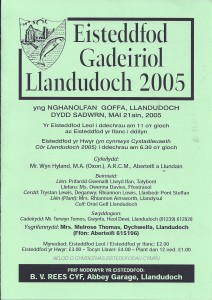 Cover of 2005 Eisteddfod Programme