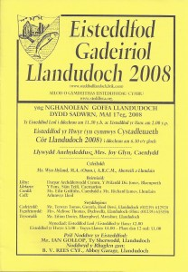 Cover of Eisteddfod Programme, 2008