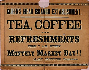 Refreshments from Queen's Head, No. 22 Pendre, 04/12/1886 (Glen Johnson Collection)