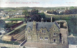 Postcard of Cardigan National School, circa 1918 (Glen Johnson Collection)