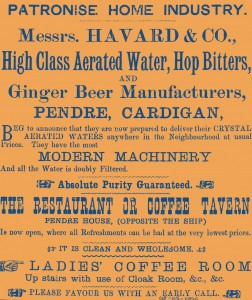 Advertisement for Havard's at Pendre House, 08/05/1896 (Glen Johnson Collection)