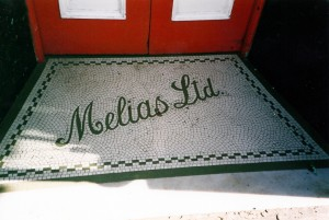 Melias' tiled entrance in March 2003 (c) Glen K Johnson