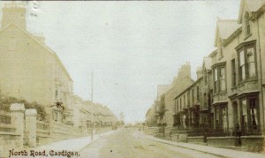 North Road with No. 27 & 28 Pendre on right, circa 1910 (Glen Johnson Collection)