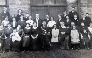 Belgian refugees, Guildhall, 1915. Mayor - D. Timothy James (Glen Johnson Collection)
