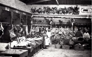 The upper market ca 1898 at Christmas (Glen Johnson Collection)