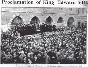 22/01/1936 - Proclamation of King Edward VIII, Guildhall (Cardigan & Tivy-Side Advertiser)