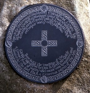 Eisteddfod Plaque in 1993 (c) Glen K Johnson