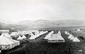 Cardigan Territorials' Camp at Porthmadoc, early August 1914 (Glen Johnson Collection)